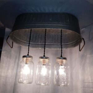 hanging washtub mason jar lights-1