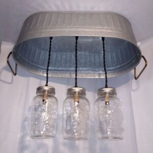 hanging washtub mason jar lights-2