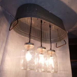 hanging washtub mason jar lights-3