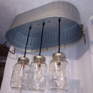 hanging washtub mason jar lights-4